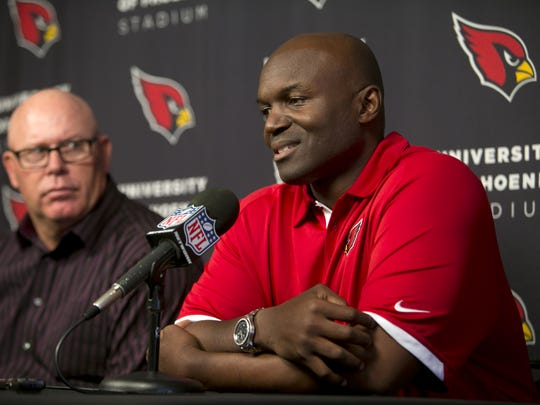 Cardinals coach Bruce Arians (left) and Todd Bowles.
