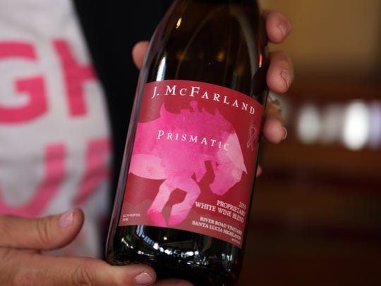 Prismatic is a 2015 white wine blend offered as part