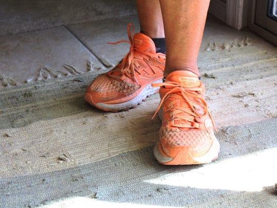 Paula Francis has worn through nine pairs of shoes
