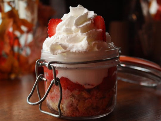 Strawberry shortcake is one of the two dessert options
