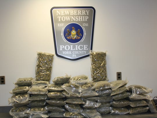 Newberry Twp. Police seized about 50 pounds of packaged