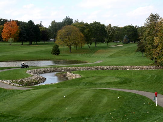 Tee box for No. 9 hole at Springdale Golf Course in Birmingham.