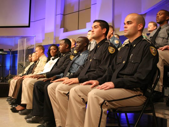 The graduating class of the Caddo Sheriff's Training Academy