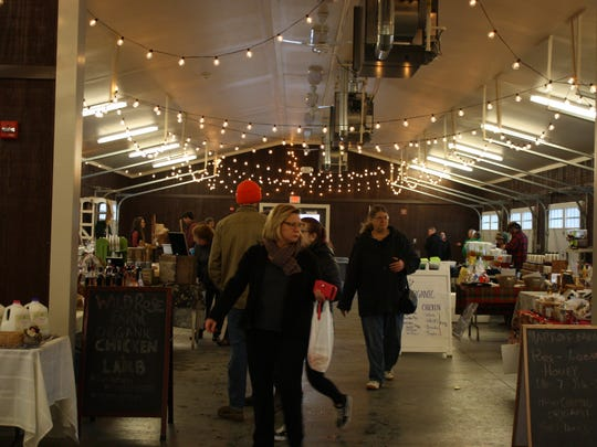 Vendors estimated that Saturday's Holiday Market saw