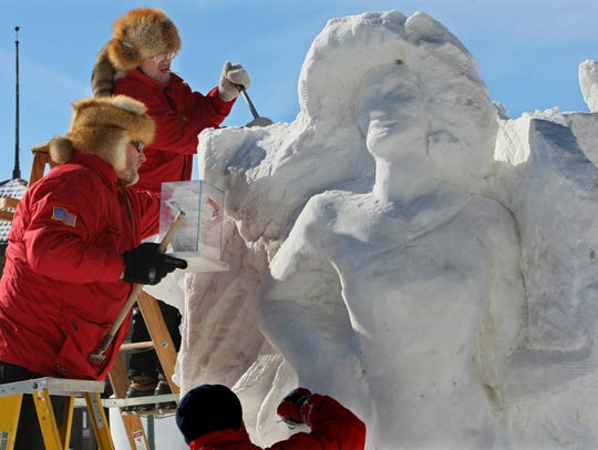 The U.S. National Snow Sculpting Competition is part