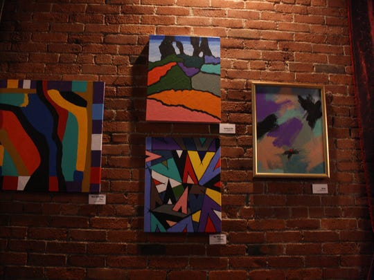"Robert Hoover's ""Divinely Diverse"" exhibit was featured at the Lost Dog Café in Binghamton during December."