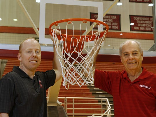 Mick Cronin, left, is photographed with his father,