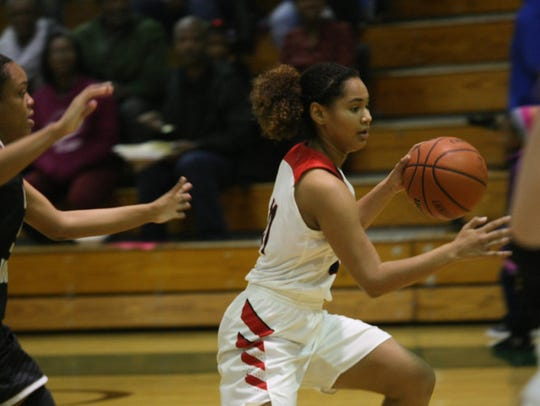 Rossview's Karle Pace drives past Kenwood defenders