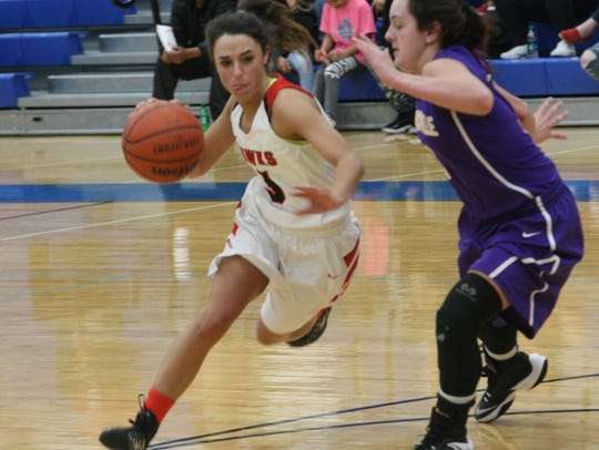 Rossview's Holly Sellers drives around Clarksville