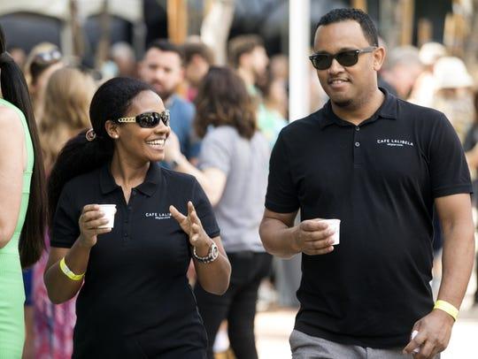 Cafe Lalibela owers Salem Beyene (left) and Anibal