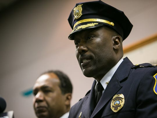 Wilmington Police Chief Bobby Cummings speaks at a