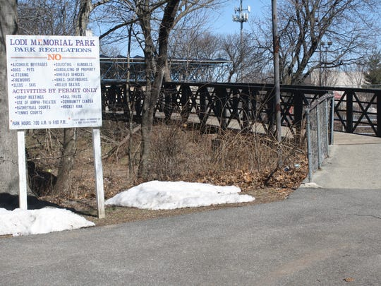 The area to the proposed ADA playground is connected to Memorial Park by a bridge.