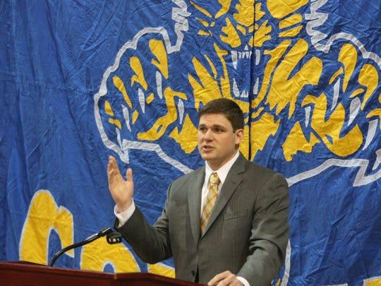 Clarksville Academy coach J.D. Sellers