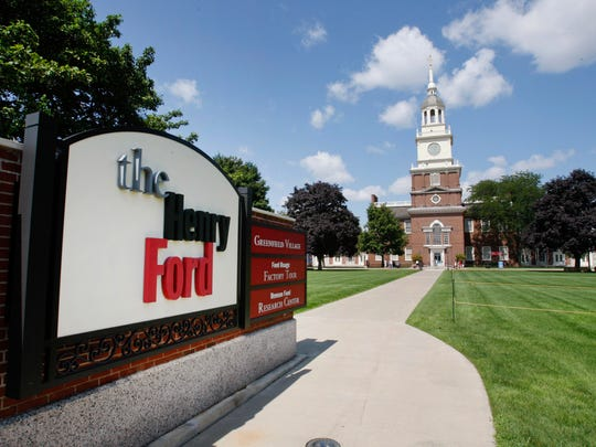 The Henry Ford Museum clock tower is shown in Dearborn. Starting Monday, Jan. 23, 2017, the museum will be known as the Henry Ford Museum of American Innovation.