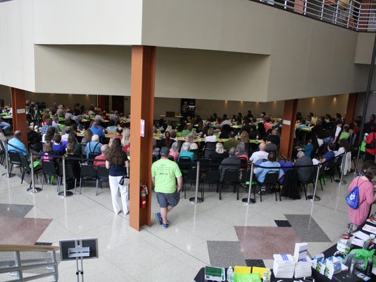 About 500 people attended Saturday's Lyme disease conference at Binghamton University.