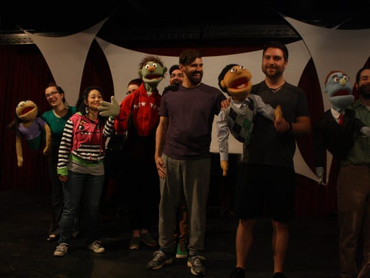 The cast of SRO Underground's 2017 production of 'Avenue Q' had to learn puppetry for the production.