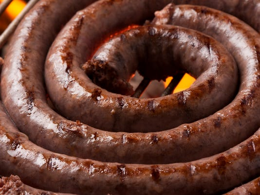 Boerewors on a braai (barbeque)