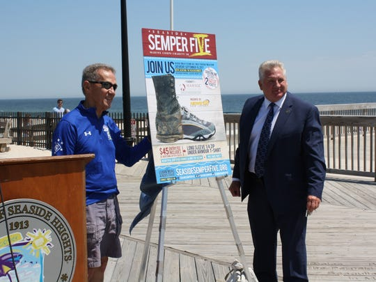 Race Director Frank Costello (l) and Seaside Heights