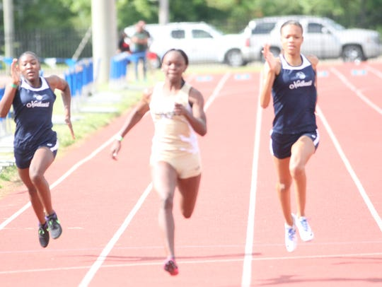 Northeast's Teuana Anderson (right) and Clandra Henry
