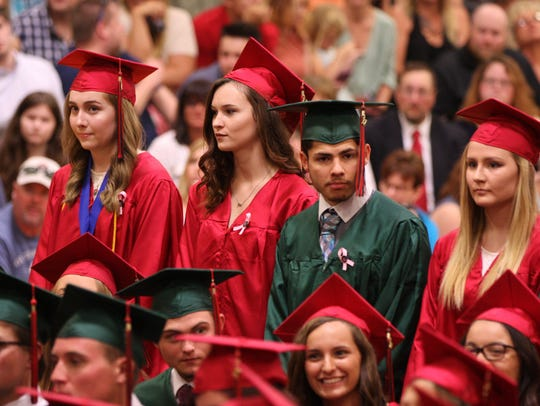 Oak Harbor High School's commencement ceremony was