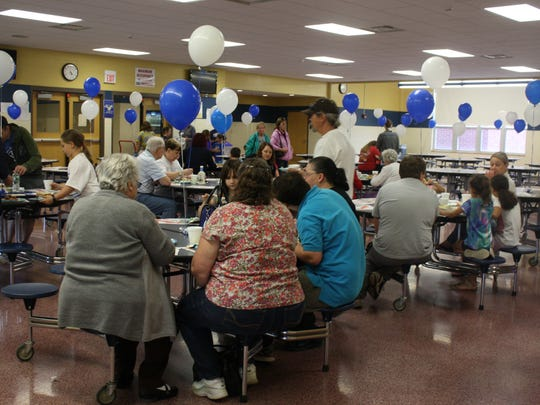Thursday's spaghetti dinner fundraiser to benefit Debbie Guerin took place in the Maine-Endwell High School cafeteria.
