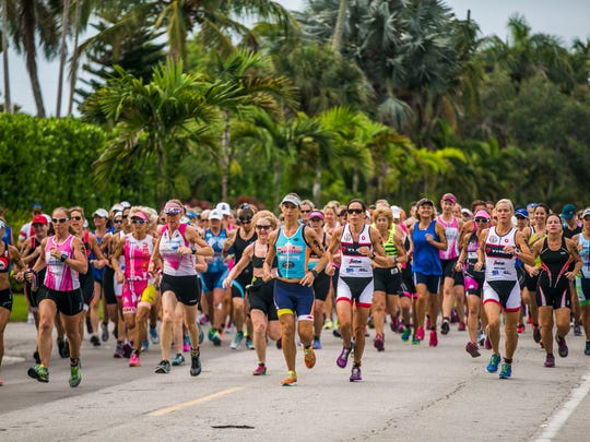 Athletes compete in the 31st Annual Fitness Challenge Triathlon at Naples Beach Hotel and Golf Club on Sunday, June 4, 2017.