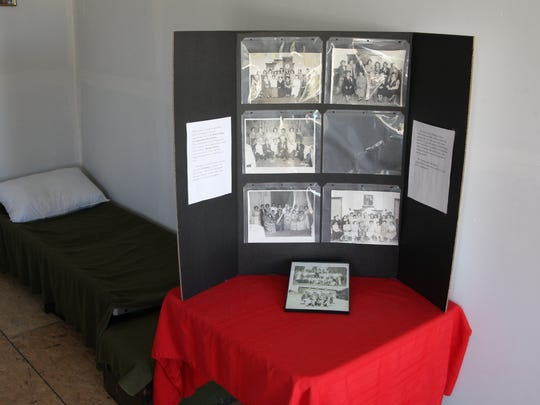 A display inside the Filipino Workers Lodging at the