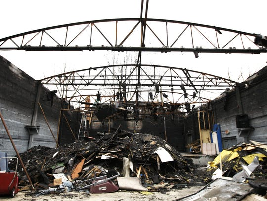 The Loveland Stage Company after a fire gutted it in