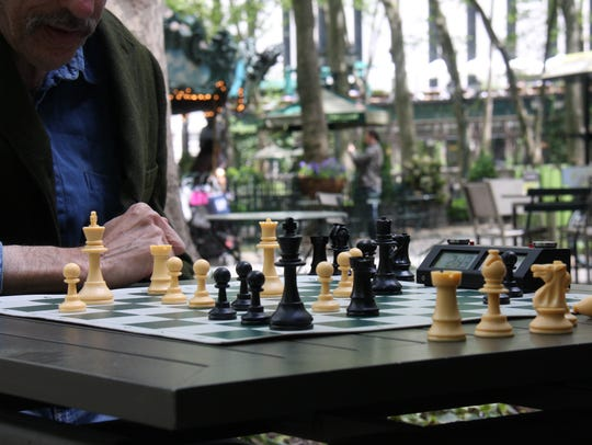 Playing Games at Bryant Park
