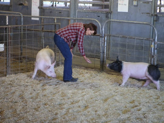 Judith Peterson during a visit to the Salinas High School farm in June 2014.