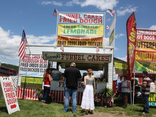 Summer favorites were sold by vendors at the July 4th