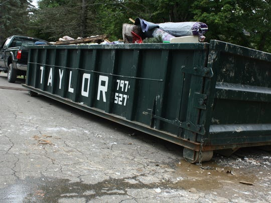 A dumpster on Tharp St. in Vestal was provided to assist