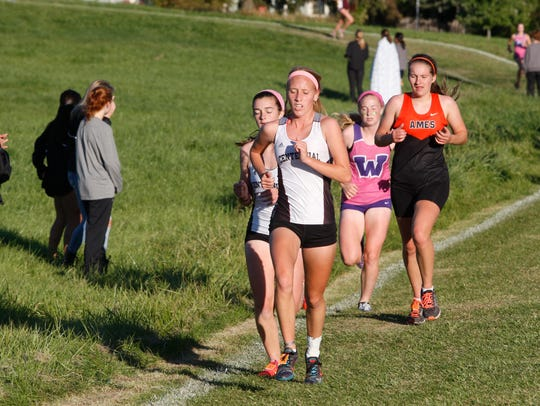 Ankeny Centennial's Megan Gray competes in last year's