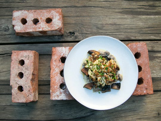 Roasted Mushrooms at Restaurant Progress in Phoenix on September 19, 2017.