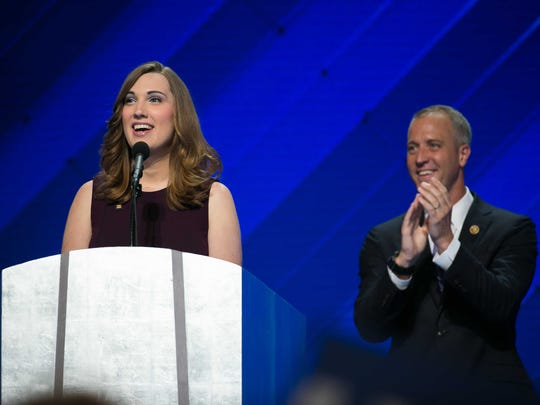 LGBT rights activist Sarah McBride of Delaware became the first transgender person to speak at a national political convention at the 2016 Democratic National Convention in Philadelphia.
