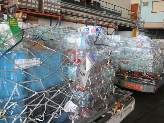More than 60,000 pounds of humanitarian aid donated