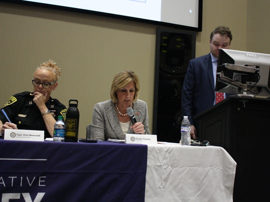 Rep. Claudia Tenney, center, hosted an opioid and heroin community forum Tuesday.