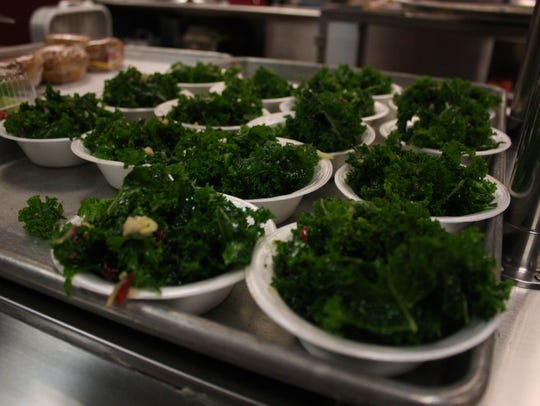 A harvest apple kale salad from Main Street Farms in