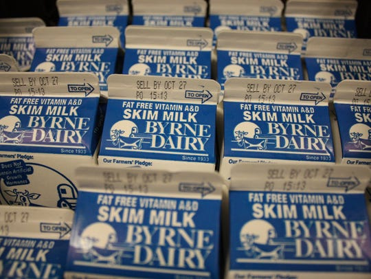 Fat free milk from Byrne Dairy was included in the