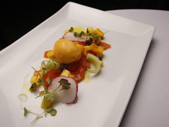 House-cured faroe island salmon with caviar, fennel-radish