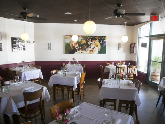 The dining room at Voila French Bistro in Scottsdale.