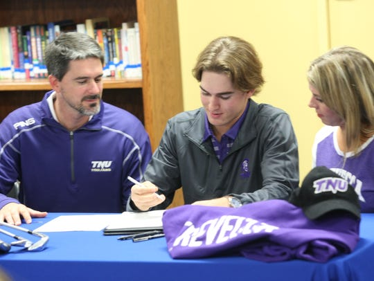 Clarksville Academy's Wyatt Samuels signed during the