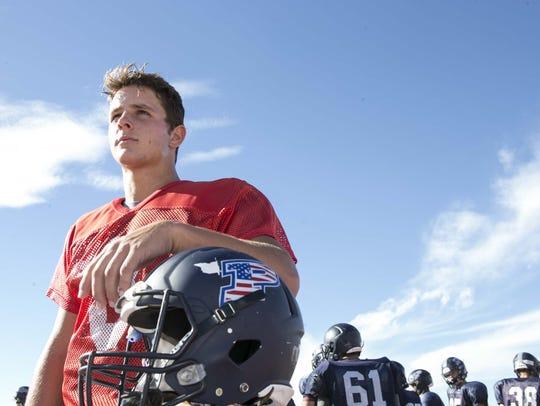 Quarterback Brock Purdy of Perry High School listen