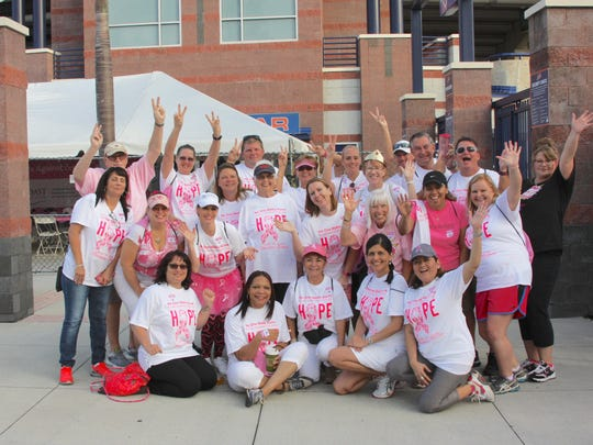 Port St. Lucie Business Women, family members and friends joined together in support of Making Strides Against Breast Cancer.
