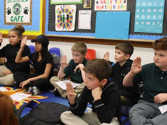 Students at St. James School participate in an after-school