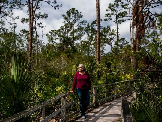 Author Michelle Caffrey at Corkscrew Swamp Sanctuary