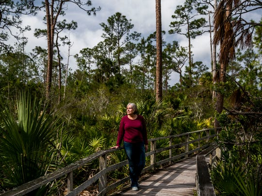 Author Michelle Caffrey at Corkscrew Swamp Sanctuary on Wednesday, Jan. 3, 2018.