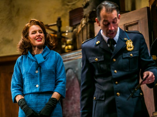 "Marillee Talkington and Jeffrey Binder in ""The Price,"" a Gulfshore Playhouse production of the Arthur Miller drama during the 2017-18 season."