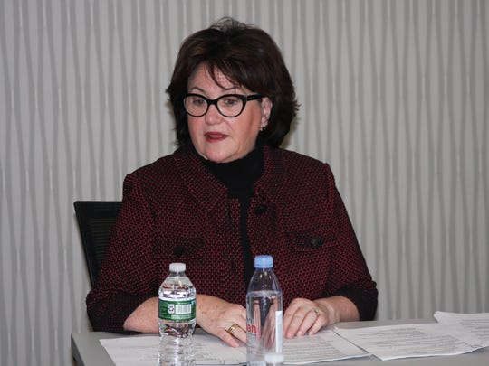State Education Commissioner MaryEllen Elia talks to The Journal News/lohd Editorial Board.