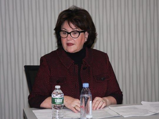 State Education Commissioner MaryEllen Elia talks to